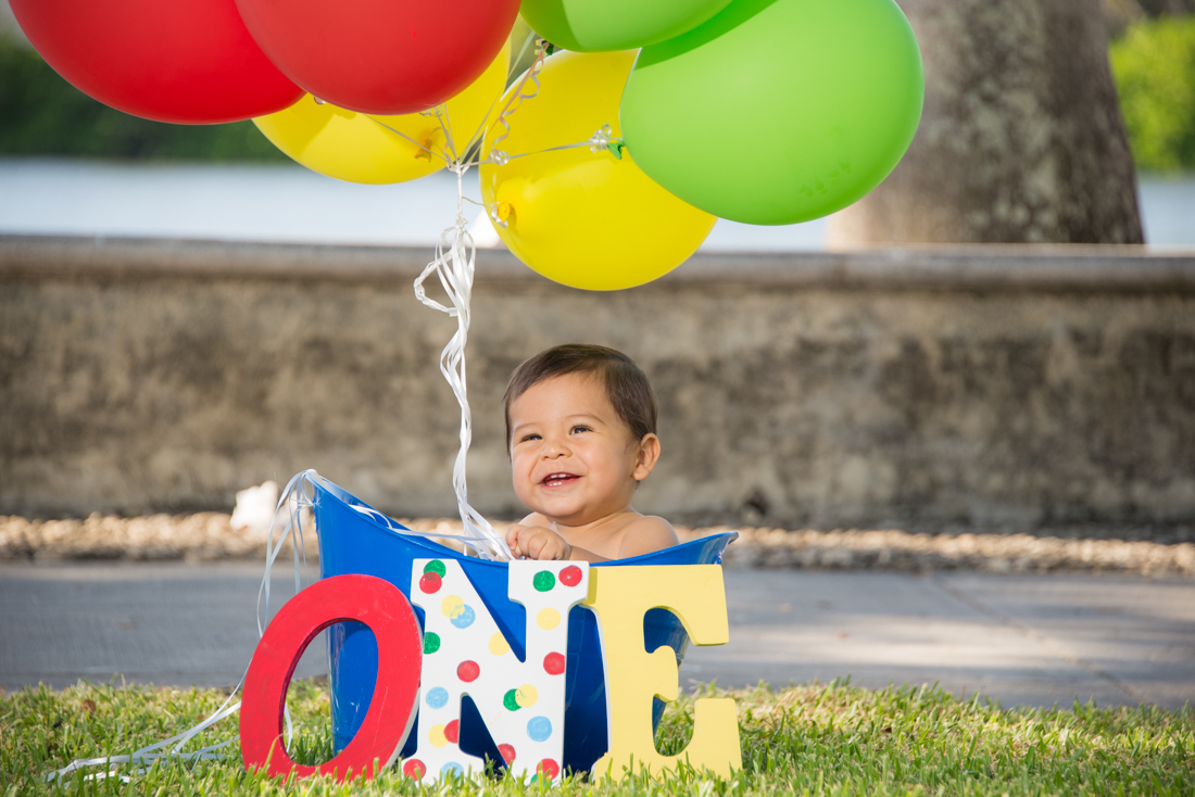 baby boy turning one year old photo with letters
